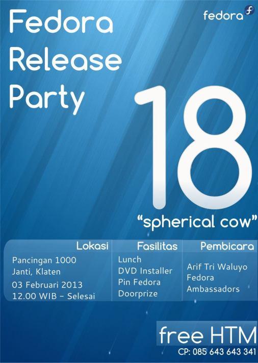 Fedora Release Party Klaten