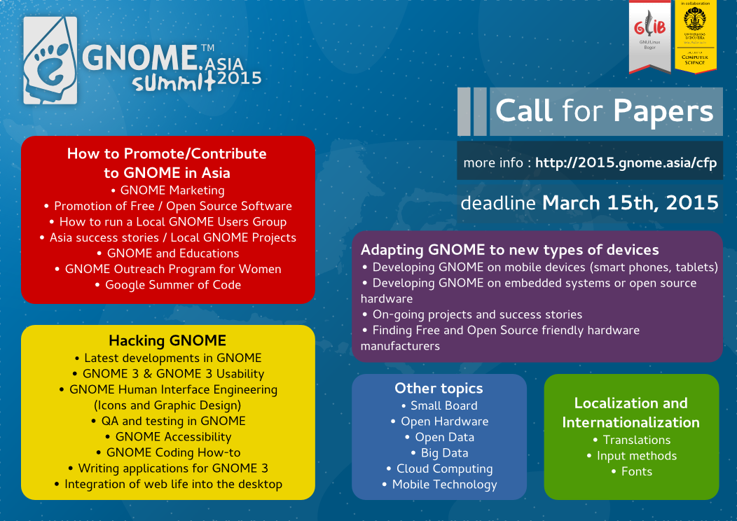 GNOME.Asia Summit Open Call For Paper