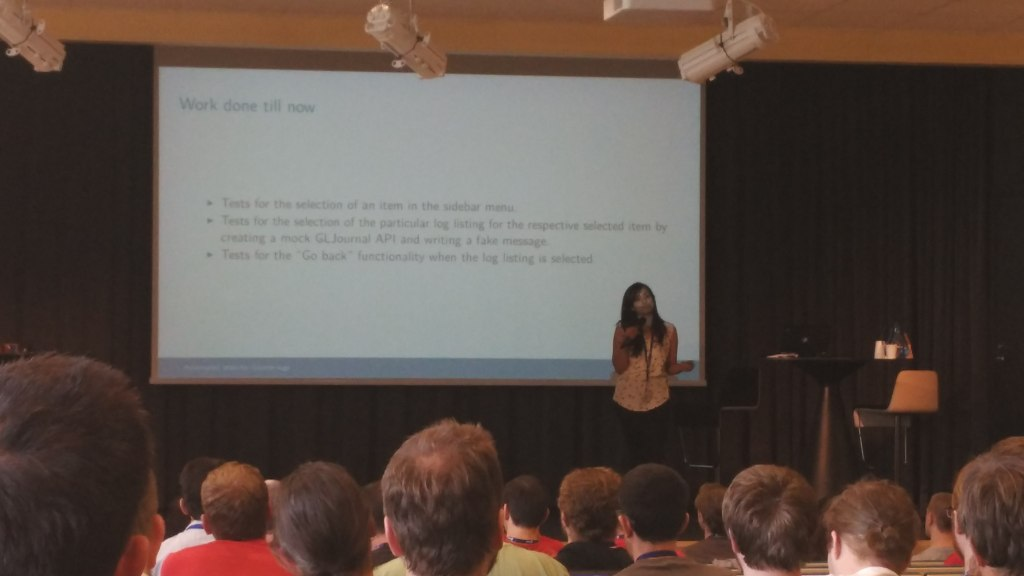 Presentation from one of GSoC Students